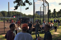 Publiek-backstop-softbalveld